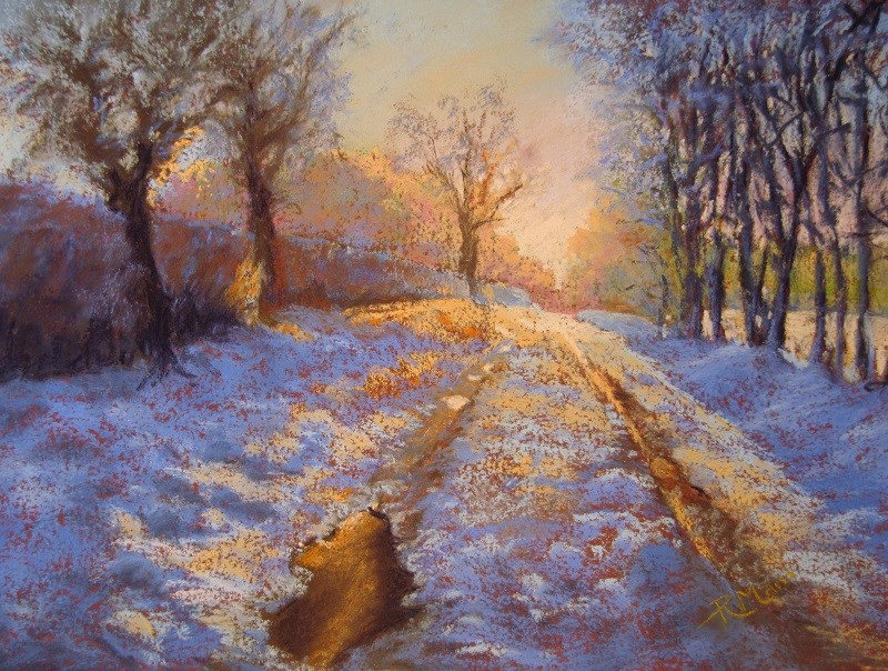 """""""Bright and Cold"""" original fine art by Ruth Mann"""