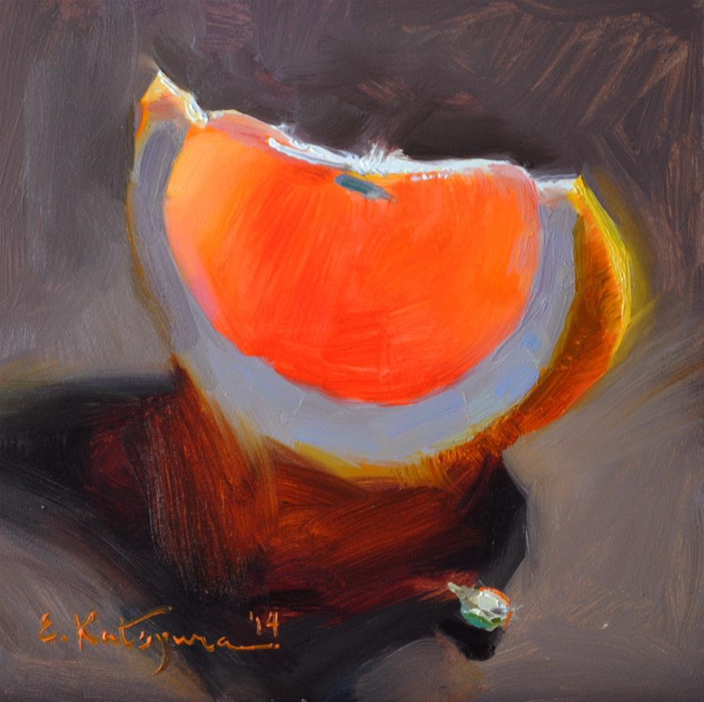"""""""Bright Slice"""" original fine art by Elena Katsyura"""