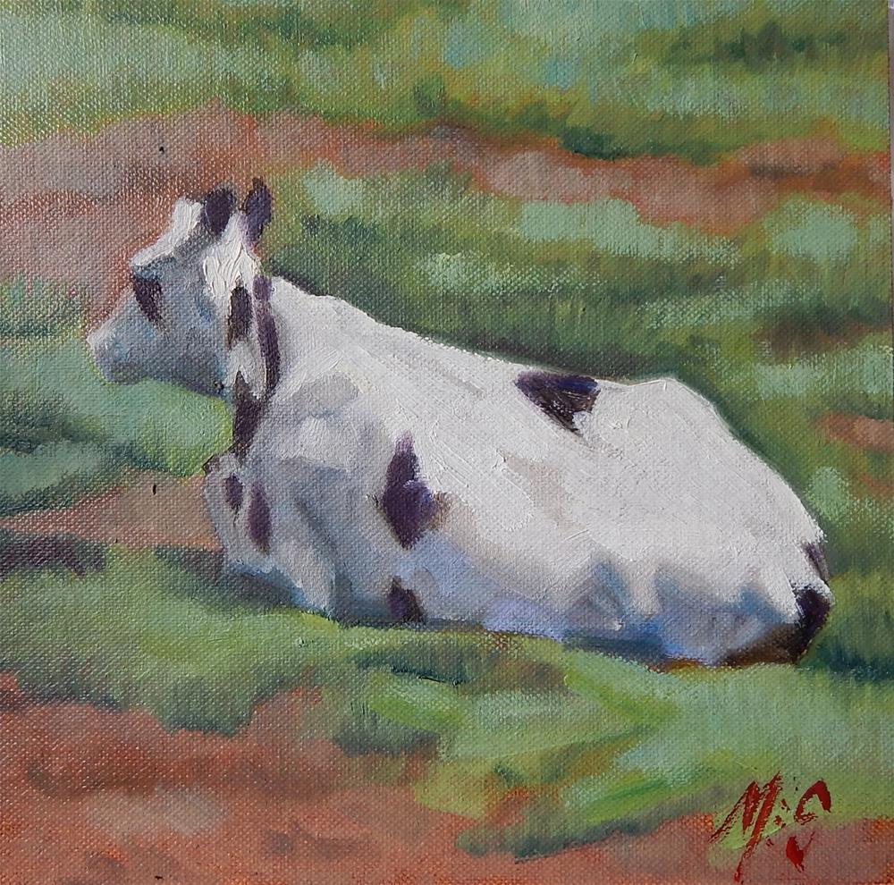 """""""Cow"""" original fine art by Megan Schembre"""