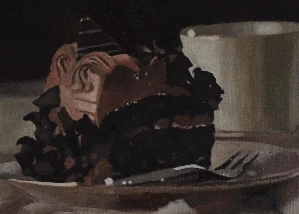 """Chocolate Cake"" original fine art by John Cameron"