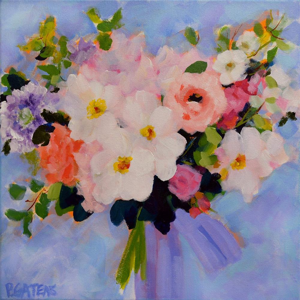 """""""Greenbrier Bridal Bouquet"""" original fine art by Pamela Gatens"""