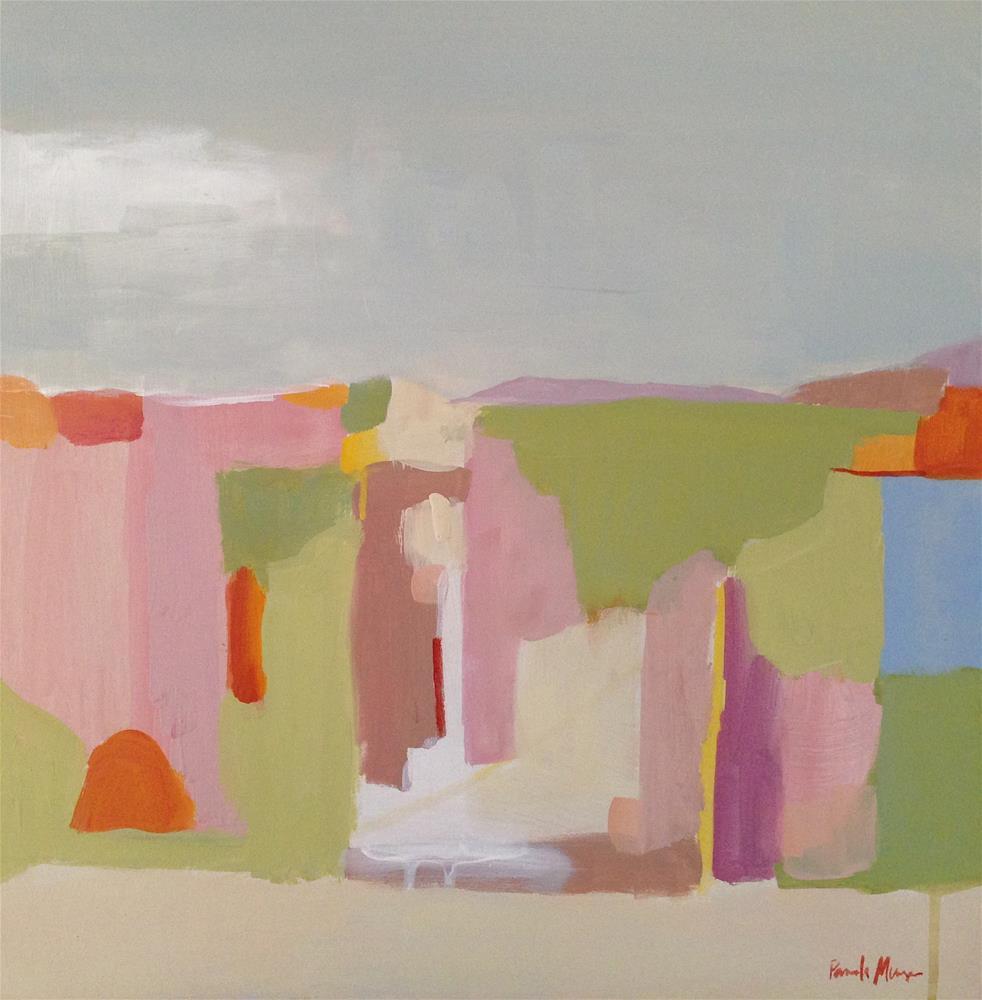 """""""Spring Abstract Landscape"""" original fine art by Pamela Munger"""