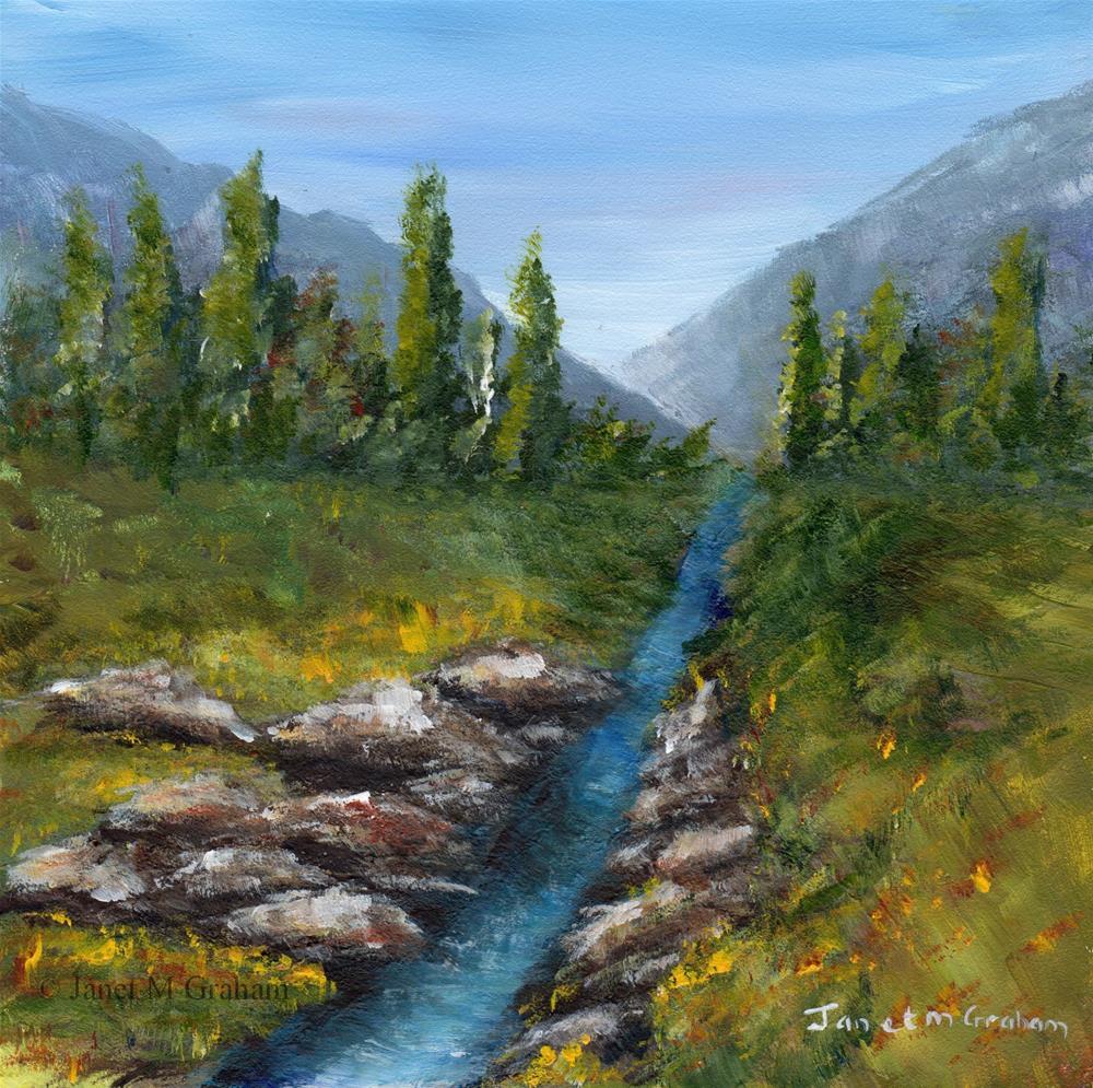 """""""Summer Stream"""" original fine art by Janet Graham"""