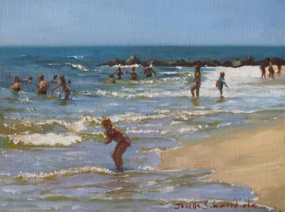 """""""Searching for Seashells"""" original fine art by Jonelle Summerfield"""