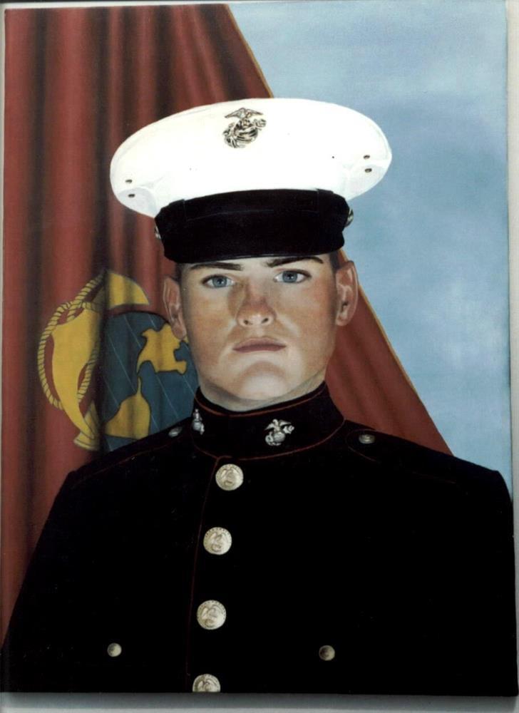 """Proud Marine"" original fine art by John Marcum"
