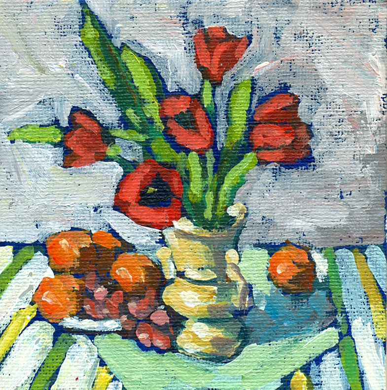 """tulips oranges and grapes"" original fine art by Shelley Garries"