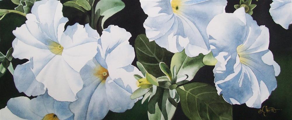 """""""Summer Whites"""" original fine art by Jacqueline Gnott, TWSA, WHS"""