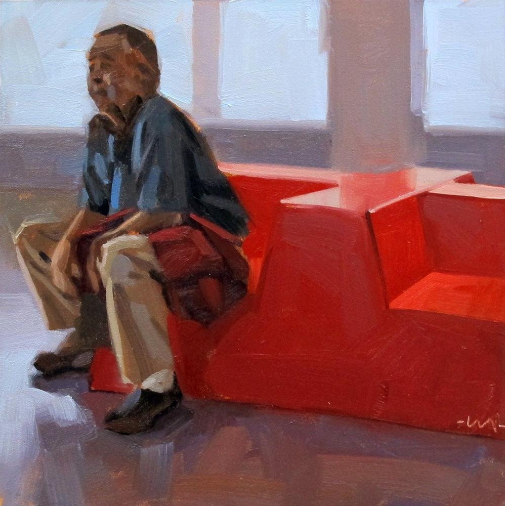 """Patient Husband"" original fine art by Carol Marine"