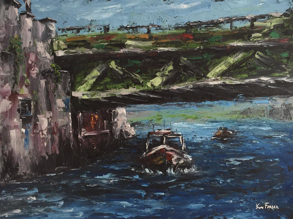 """""""58th Street Bridge"""" original fine art by Ken Fraser"""
