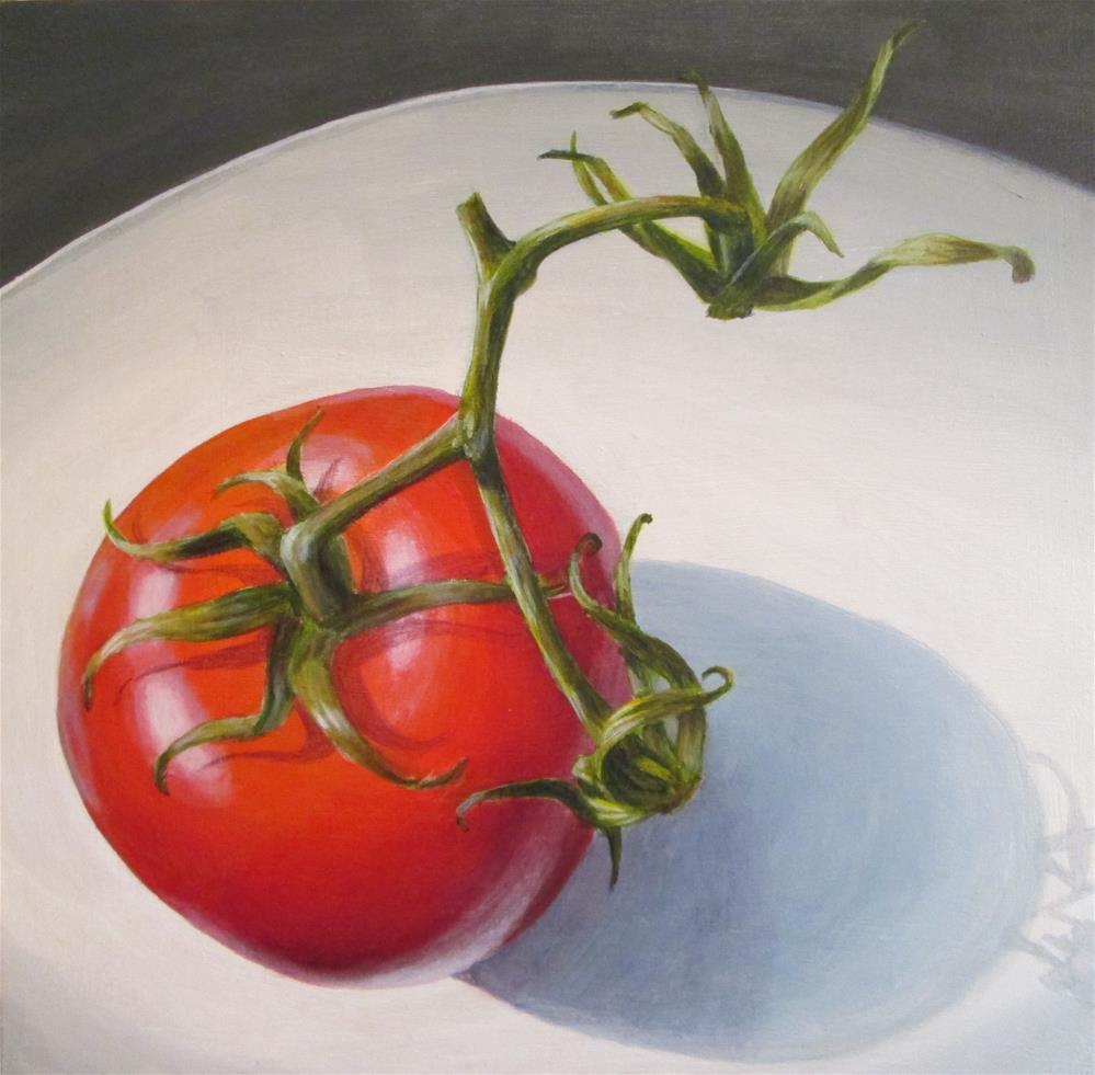 """Tomato"" original fine art by Debbie Shirley"