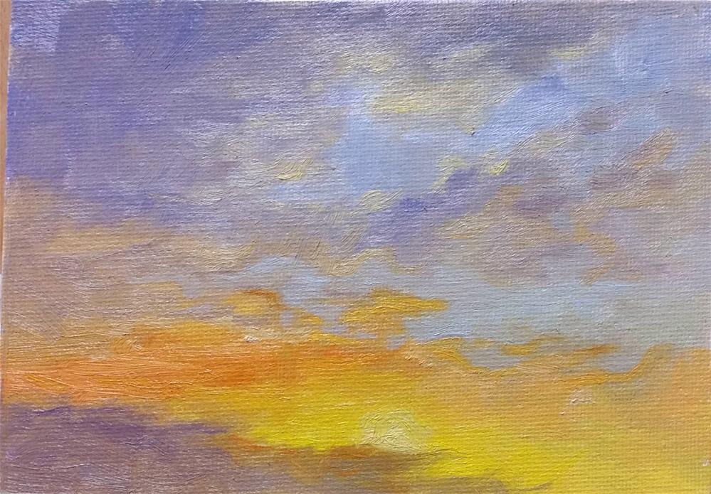 """May 7 Sunrise-en plein air"" original fine art by Veronica Brown"