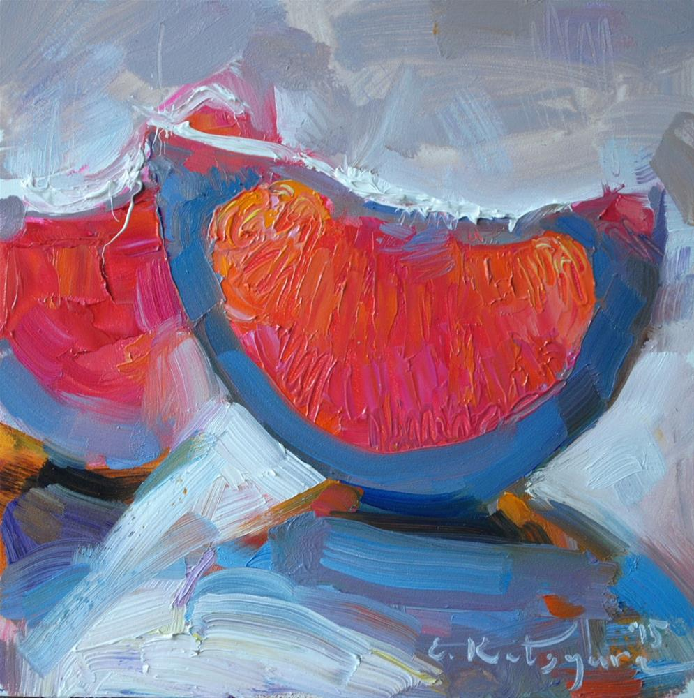 """Evening Grapefruit"" original fine art by Elena Katsyura"
