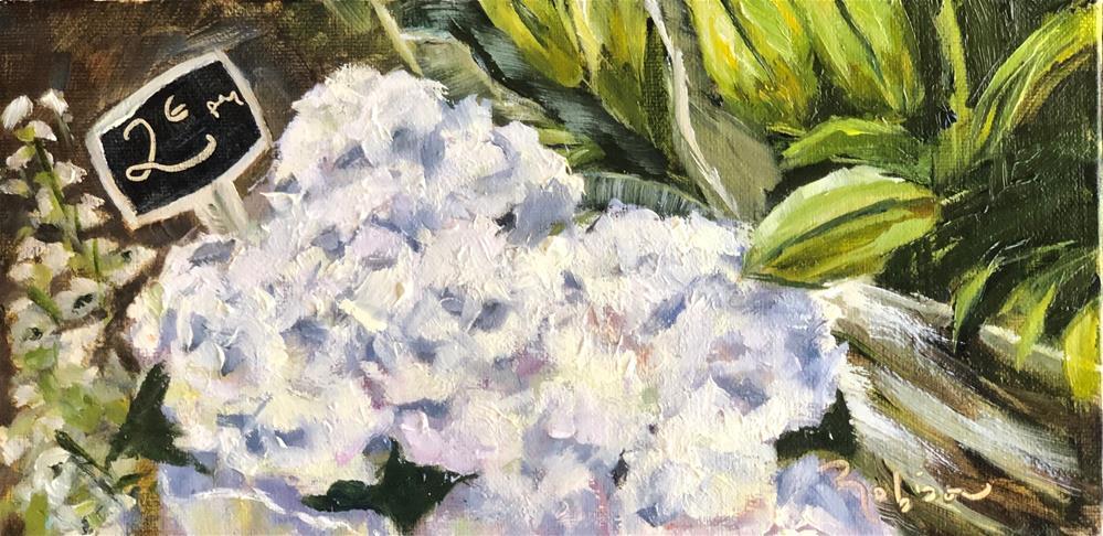 """French Market Blanc Fleurs"" original fine art by Renee Robison"
