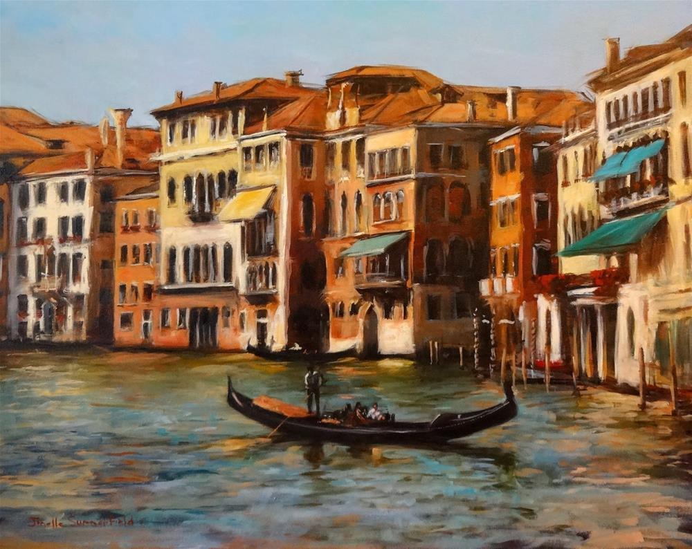 """Venice Canal V"" original fine art by Jonelle Summerfield"