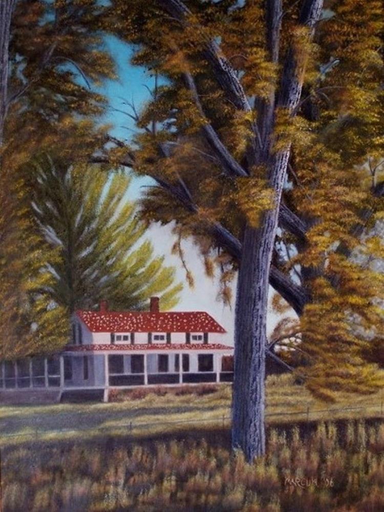 """Colorado in Fall"" original fine art by John Marcum"