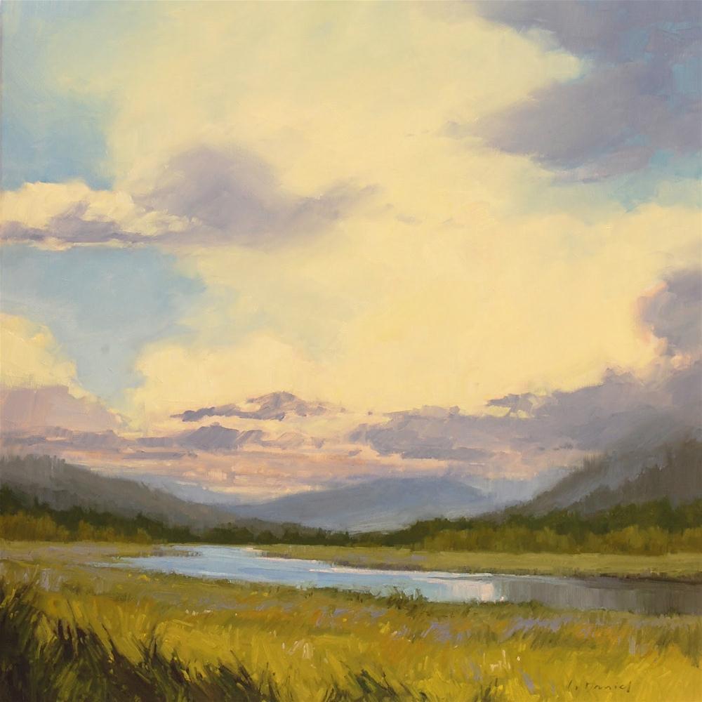 """Verdant River Valley and a happy ending!"" original fine art by Laurel Daniel"