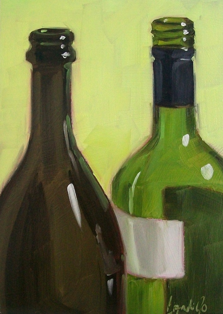 """Wino26"" original fine art by Brandi Bowman"