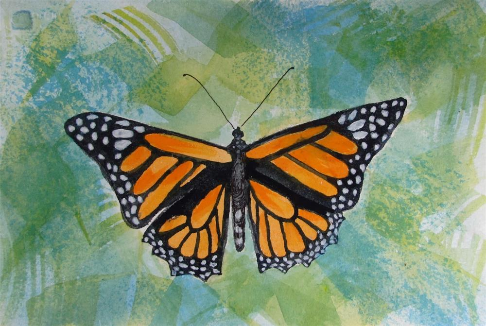 """Monarch#6"" original fine art by Christine Holzschuh"