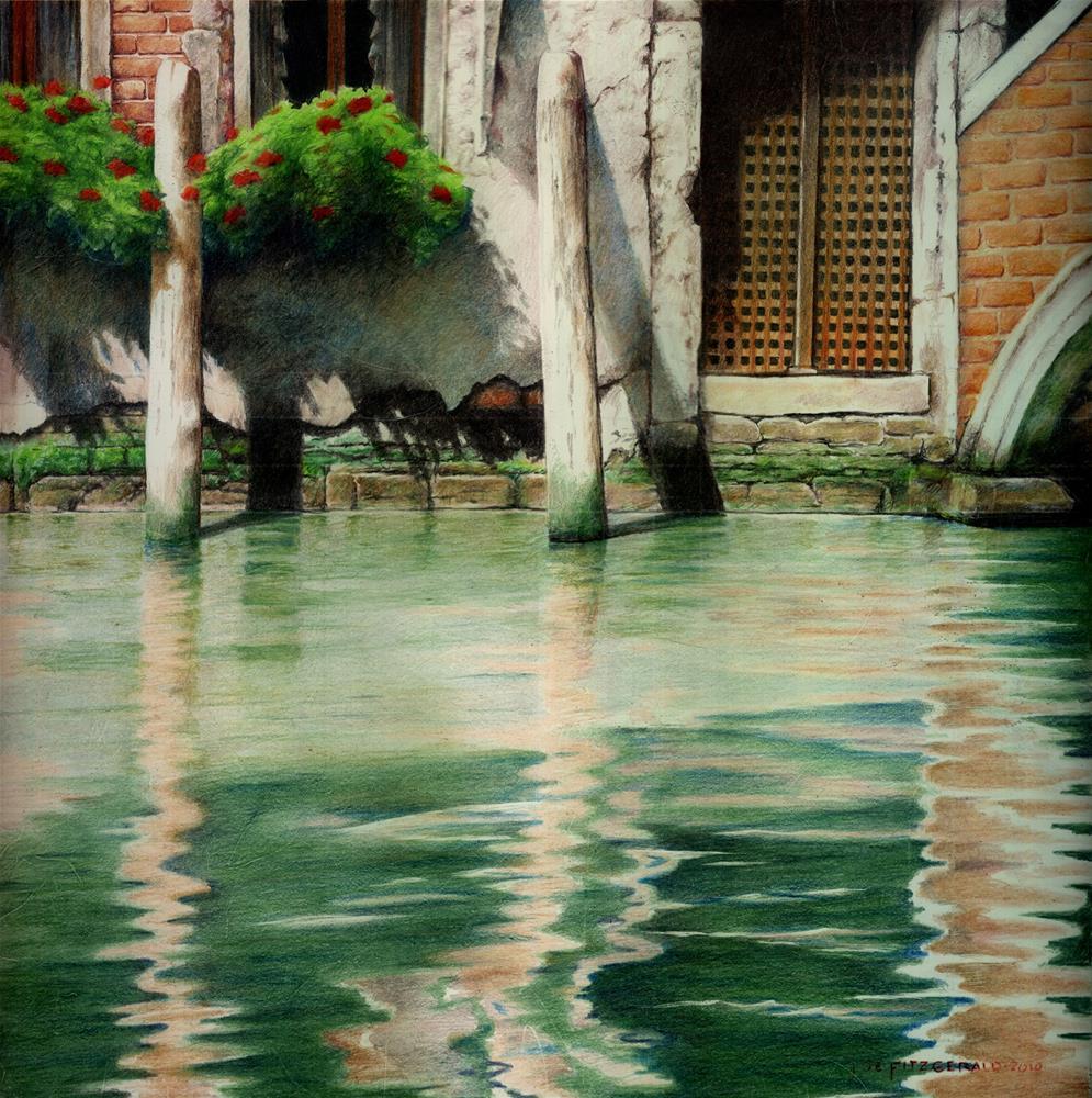 """Twin Posts - Venice"" original fine art by Joe Fitzgerald"