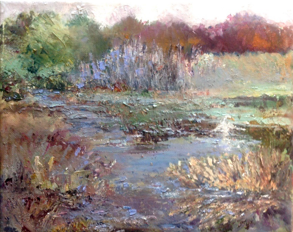 """Midmorning in the Marsh"" original fine art by Judy Usavage"