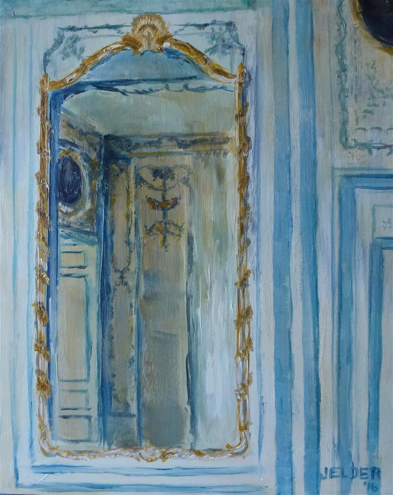 """""""Mirror at Versailles"""" original fine art by Judith Elder"""
