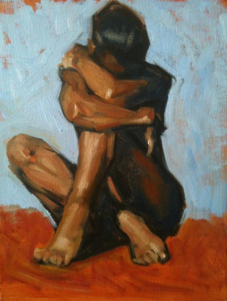"""Crouching Figure"" original fine art by Megan Schembre"