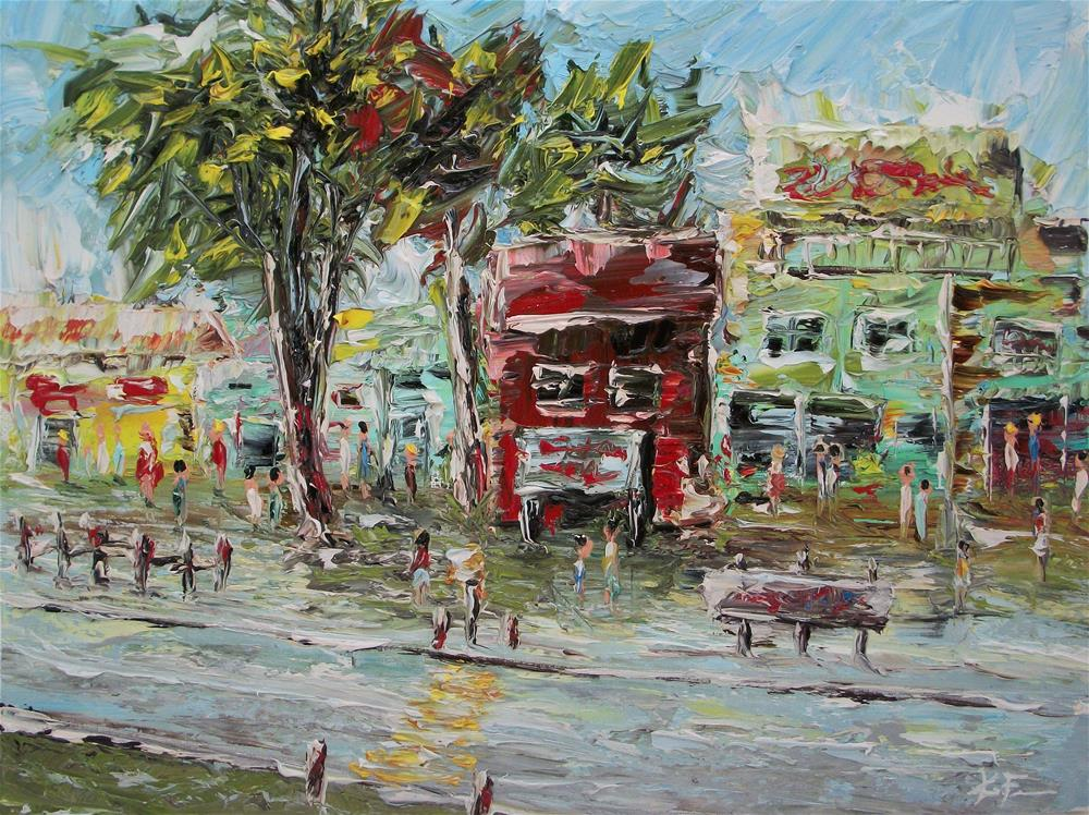 """Art District 3"" original fine art by Ken Fraser"