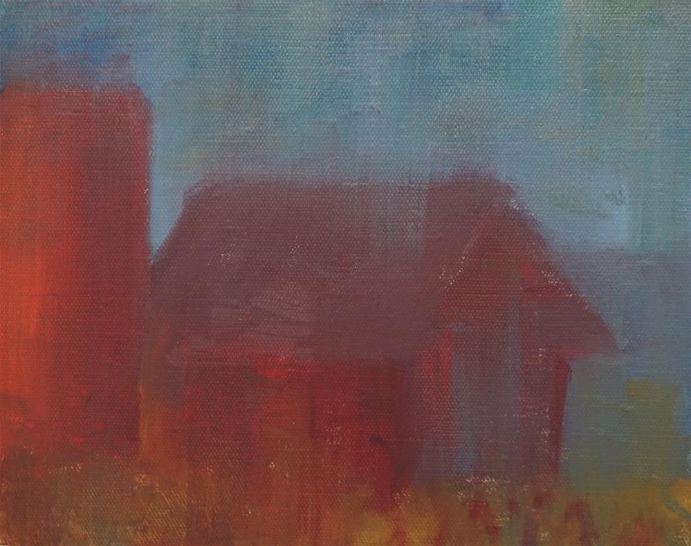 """""""Old Barn"""" original fine art by Catherine Van Berg"""