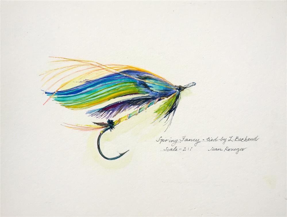 """""""Spring Fancy"""" original fine art by Jean Krueger"""
