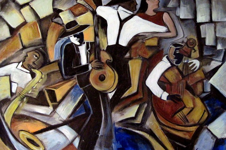 """Street Jazz"" original fine art by Valerie Vescovi"