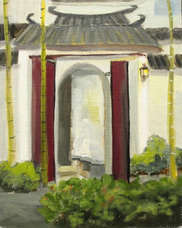 """""""Xidi Village Gateway"""" original fine art by Jane Frederick"""