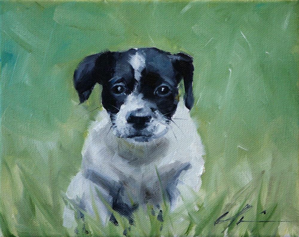 """Lulu"" original fine art by Clair Hartmann"
