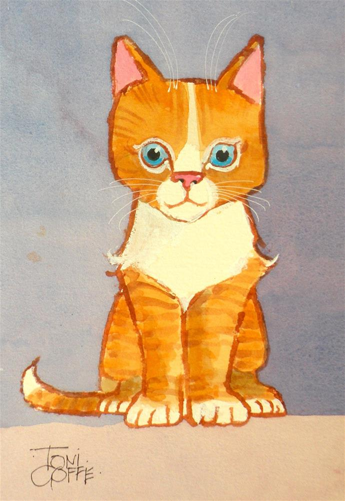 """It's Hard Work….Looking So Cute!"" original fine art by Toni Goffe"