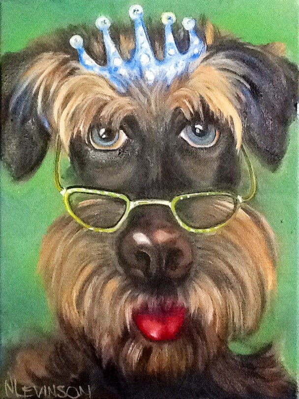 """Pseudo Intellectual"" original fine art by Nancy Levinson"