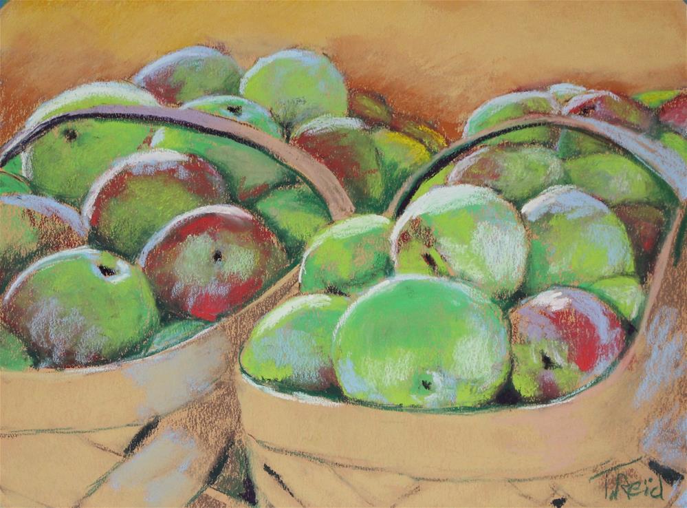 """""""Baskets of Apples"""" original fine art by Toby Reid"""