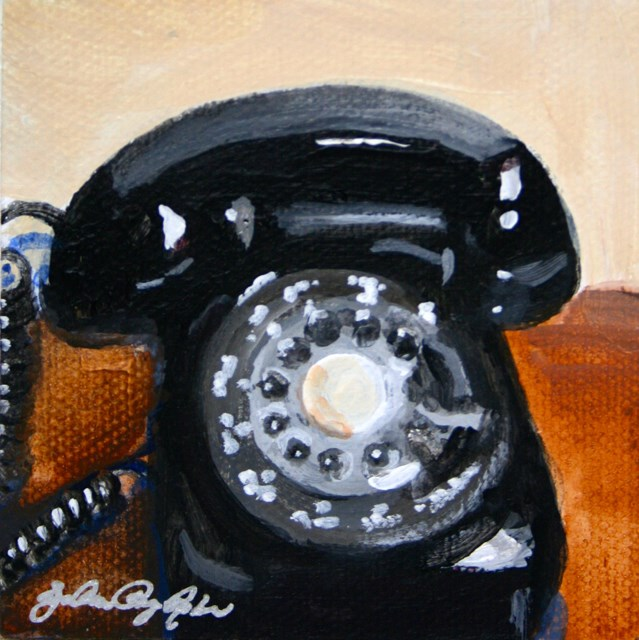 """Phone Home"" original fine art by JoAnne Perez Robinson"