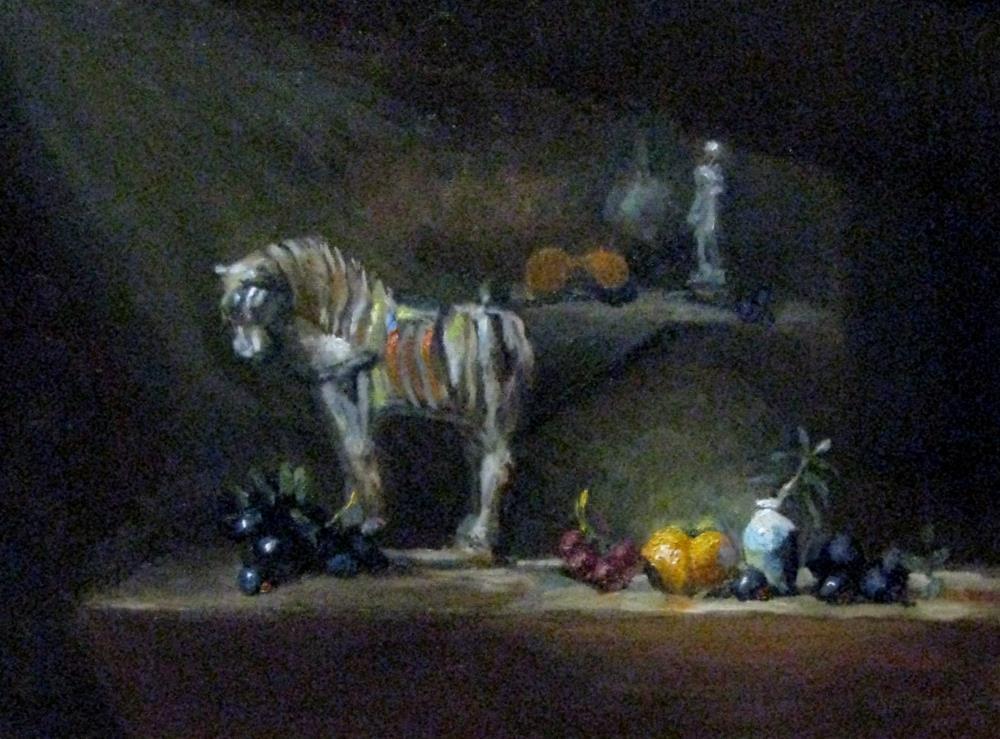 """""""light upon fall fruit"""" original fine art by tom dawson"""