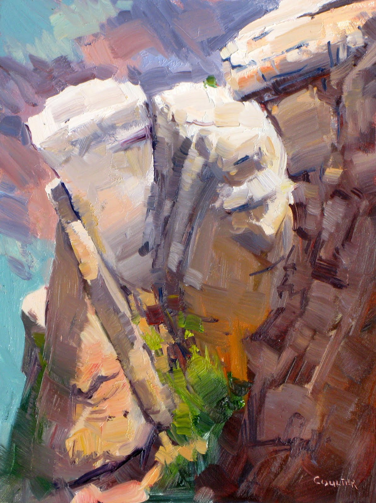 """""""CANYON ROCK OUTCROPPING"""" original fine art by James Coulter"""