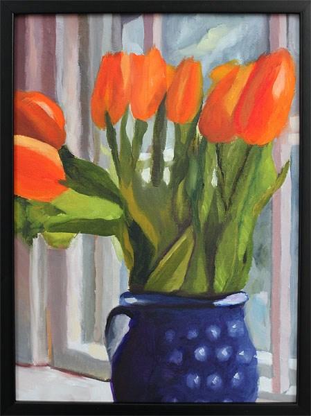 """Winter Morning 16 x 12"" original fine art by Johnna Schelling"