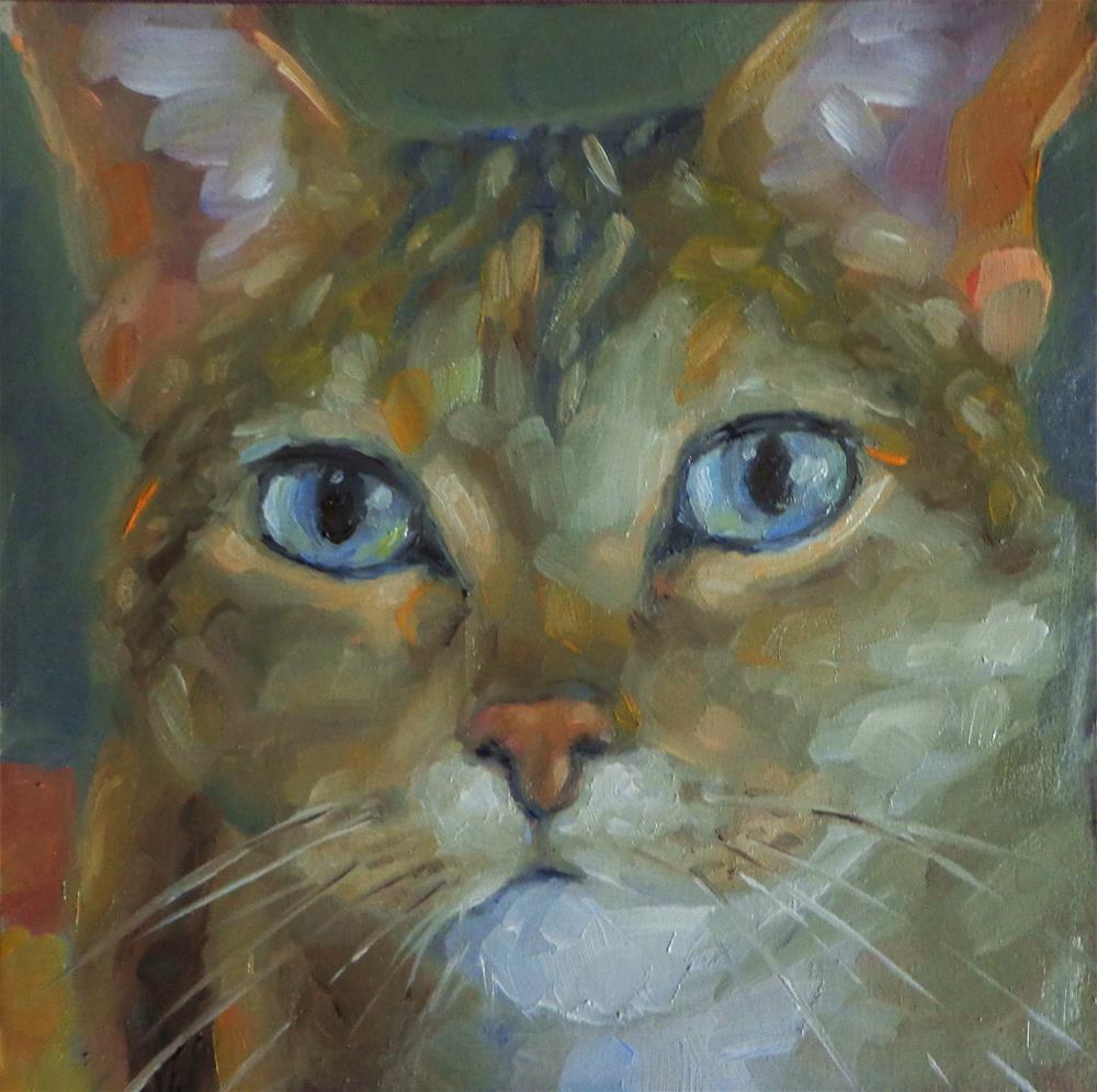 """""""Cat"""" original fine art by Maria Z."""