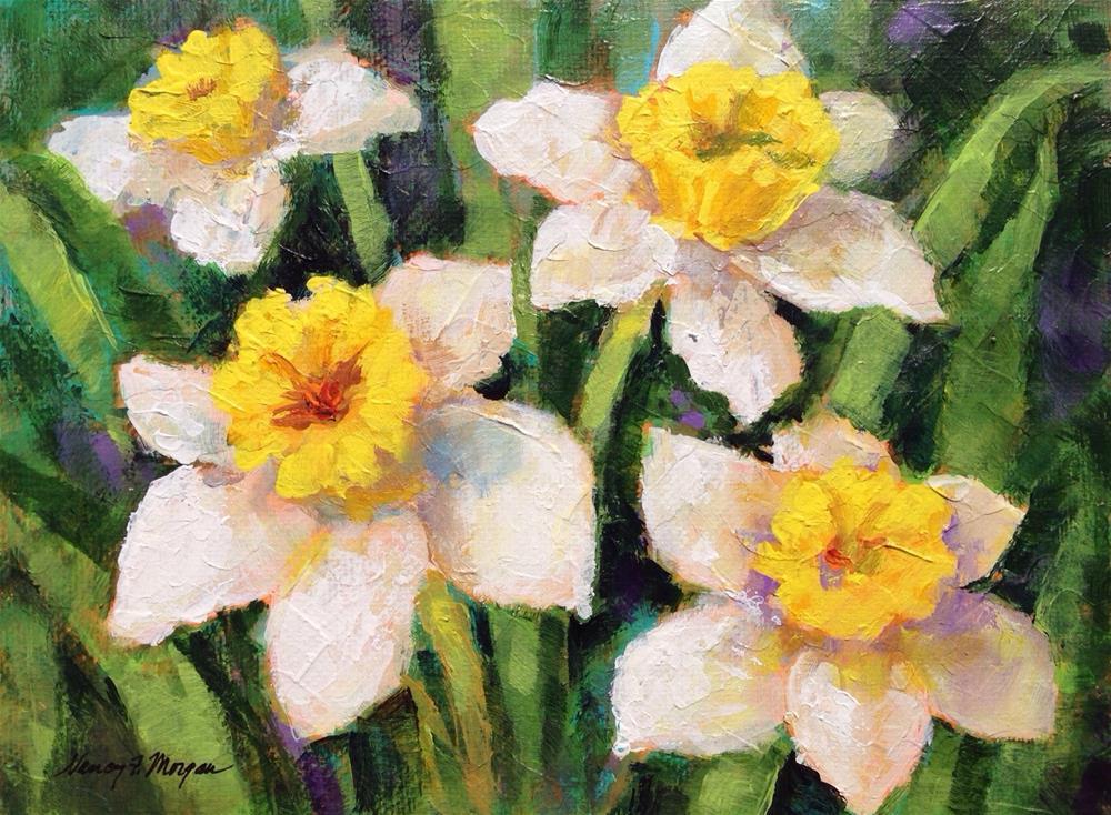 """""""Daffodils"""" original fine art by Nancy F. Morgan"""