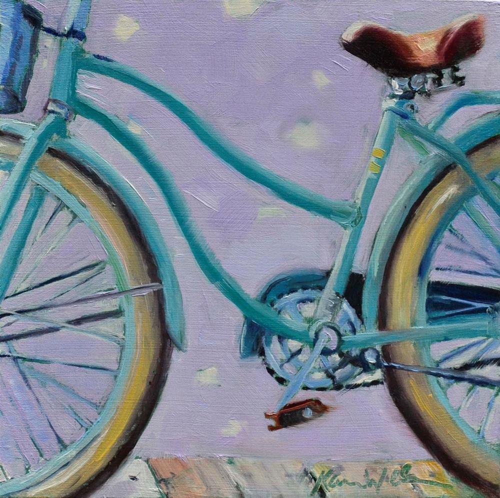 """""""Beach Ride 2"""" original fine art by Karen Weber"""