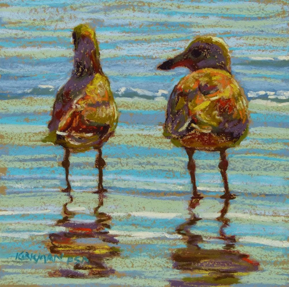 """Beach Date #4 (and the KS Workshop)"" original fine art by Rita Kirkman"