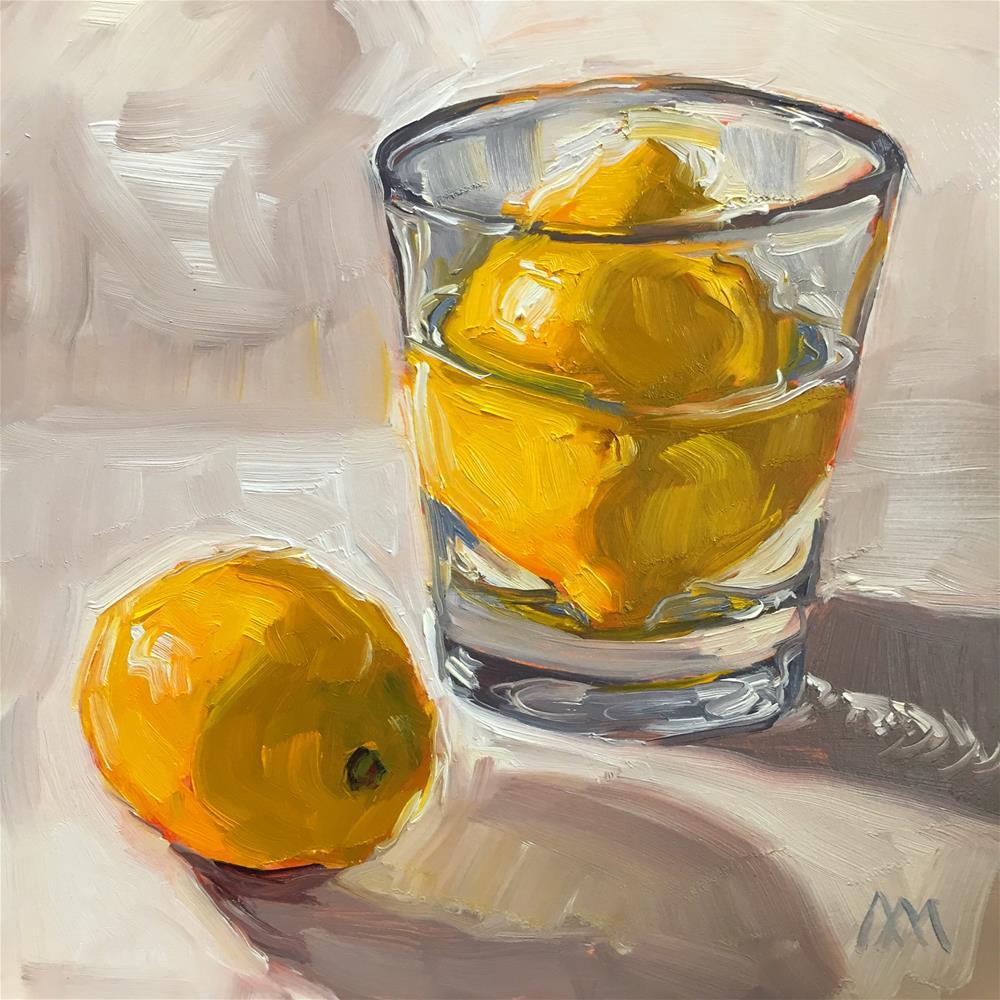 """Swimmin Lemon"" original fine art by Austin Maloney"