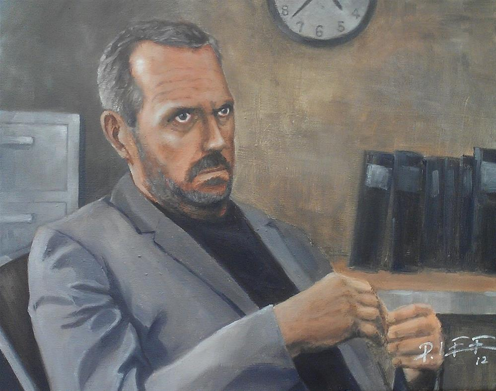 """Dr. House"" original fine art by Peter Lee"