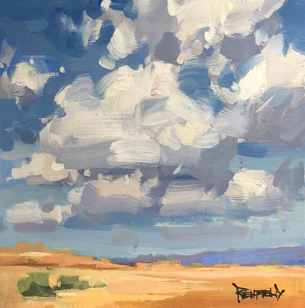 """Desert Clouds"" original fine art by Cathleen Rehfeld"