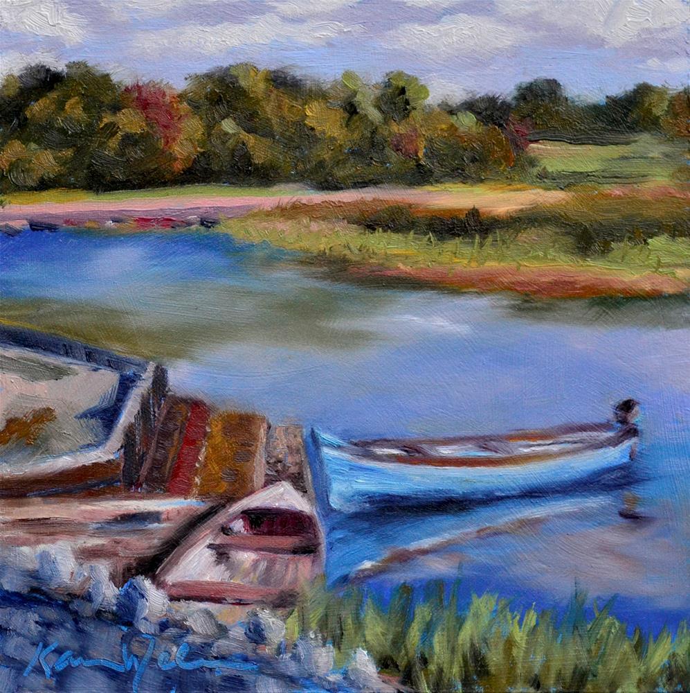 """Two to Row"" original fine art by Karen Weber"