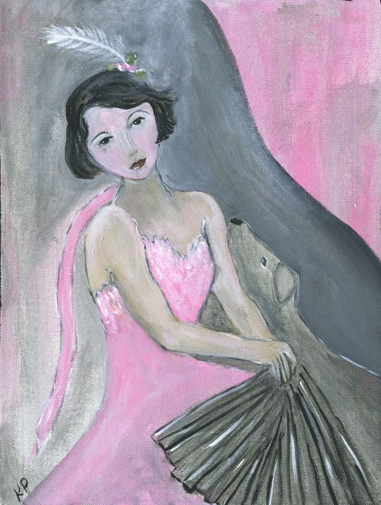 """With her Best Friend"" original fine art by Kali Parsons"