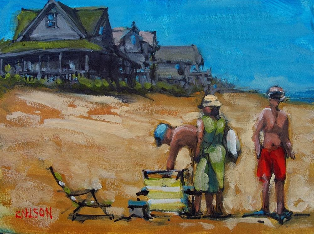 """Snorkel"" original fine art by Rick Nilson"