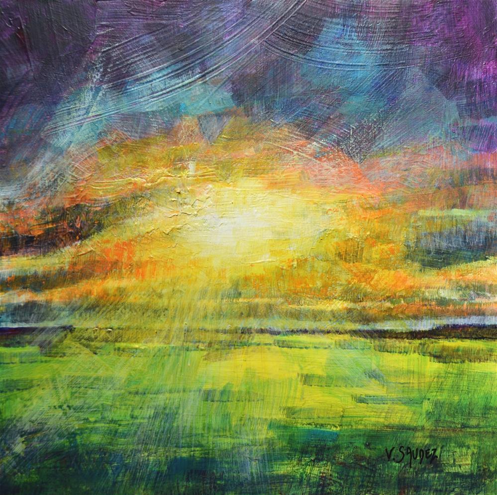 """""""The  fields after the storm"""" original fine art by Véronique Saudez"""